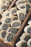 lavender wedding cones, dried lavender