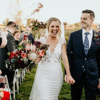 Purple Wedding Confetti Toss | 100-150 guests