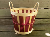 Small Apple Bushel Basket 7 in. | Small Rustic Fruit Bushel Basket