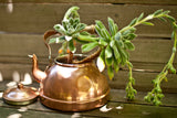 Vintage Copper Teapot with Wood Handle Tagus Portugal