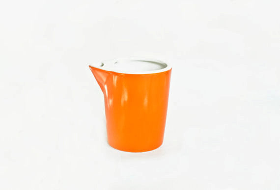 Vintage Mid Century Modern Orange Creamer- Lefton China- Danish Swedish