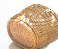 "Vintage Mid Century Ritter Woven Basket Purse 1950s - ""It's in the Bag by Ritter"" Ritter Purse Wicker Basket"