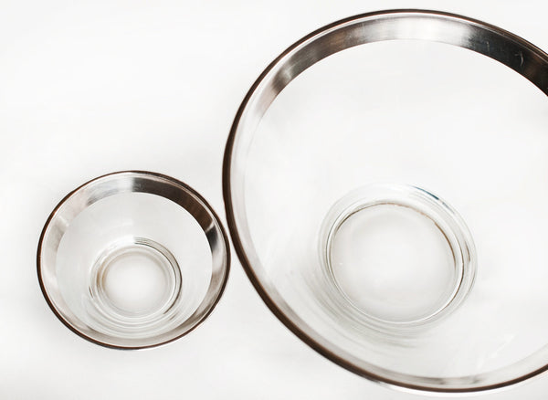 Vintage Mid Century Modern Glass Bowls |  Dorothy Thorpe Chip and Dip Bowl