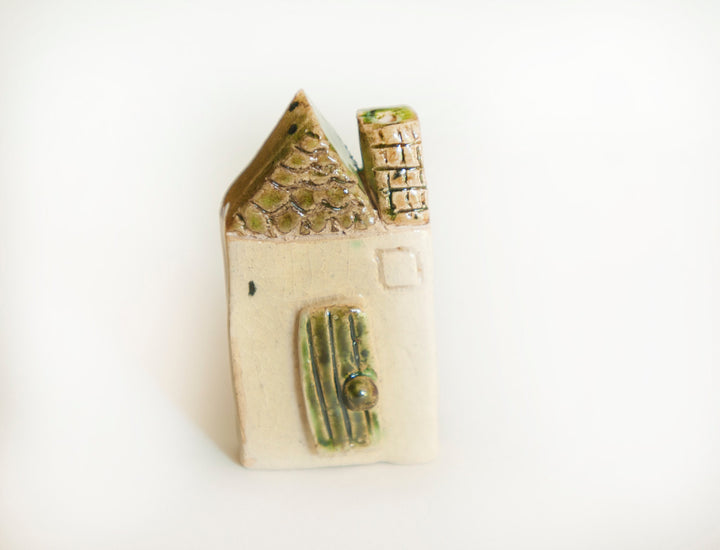 Tiny house, Miniature Fairy House Terrarium gardens,miniatures fairy gardens,totem, OOAK Ceramic House,wedding favor