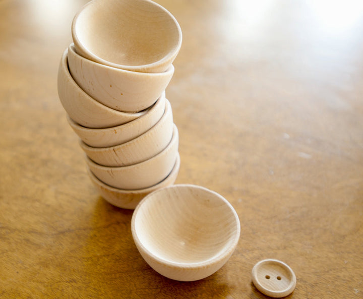 Small Wooden Bowls Set of 5 | Mini Bowls