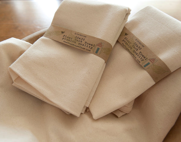 aunt martha's flour sack towels by the tiny house farm