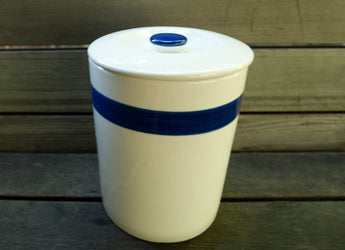 Vintage Blue and White Canister