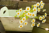 Rustic Wooden Box White Wash | Wood Planter  Farmhouse Decor