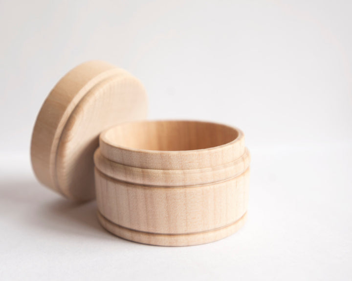 Small Wooden Boxes Set of 24 | Mini Wood Boxes Round