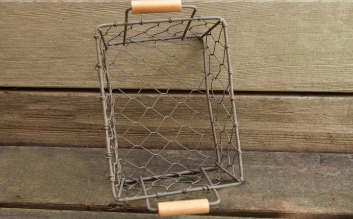 Rustic Metal Chicken Wire Baskets | Set of 5 | Farmhouse Decor