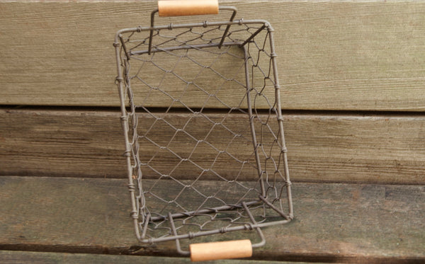 Rustic Metal Chicken Wire Baskets | Set of 3 | Farmhouse Decor