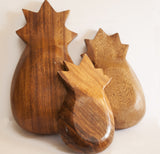 wooden pineapple bowls