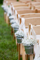 wedding isle decorations buckets