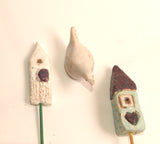 fairy garden ceramic houses image
