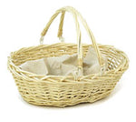Market Basket | Willow Basket with Handle, natural, NO liner