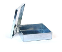 Large Square Tin Box, SET of 3 | Galvanized Box Set
