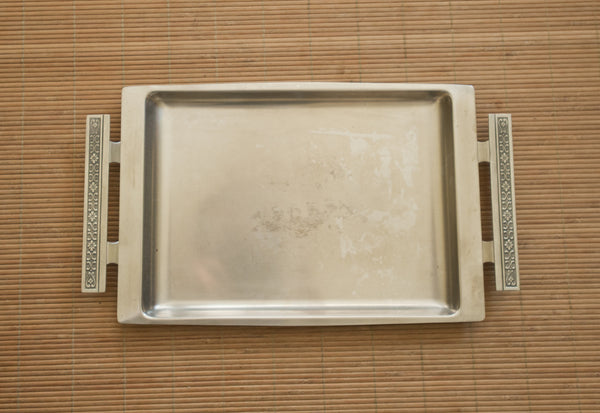 vintage stainless steel tray