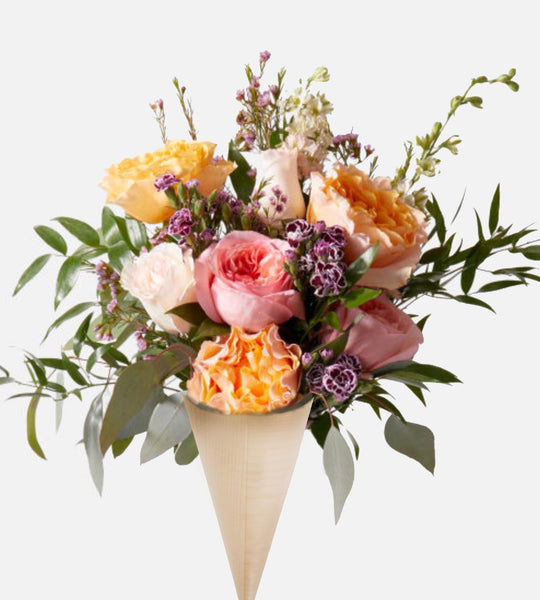 Flower Confetti Cones | natural wood cones for wedding toss