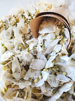 White Dried Flowers, Wedding Toss | Winter White colors, 50-75 Guests