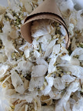 White Dried Flowers, Wedding Toss | Winter White colors, 25-45 Guests, Simple Wedding
