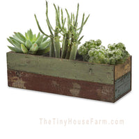 Wood Succulent Planter | Wood Planter Box, Reclaimed Wood