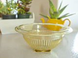 Vintage glassware federal glass yellow ribbed bowls