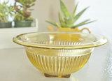 vintage federal glass yellow bowls depression glass