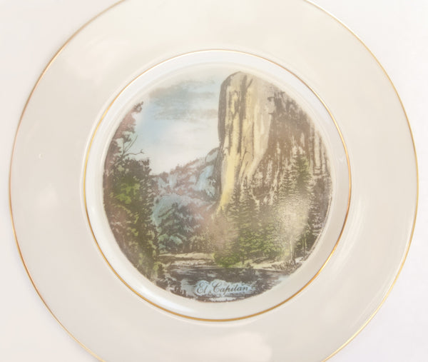Yosemite Curry Village | Collectible Mid Century Plate | El Capitan Rock Climbing Memorabilia | National Parks Collectibles Viletta Arts