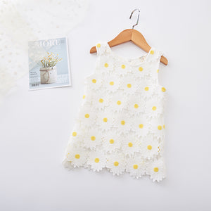 Sleeveless Flowers Dress