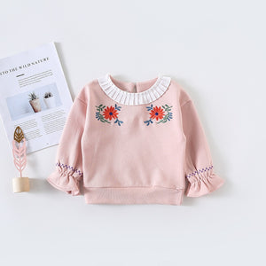 Embroidered Flowers Sweatshirt