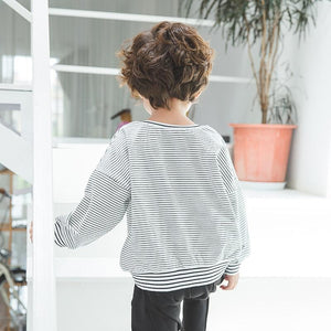 Cotton Stripe Sweatshirt