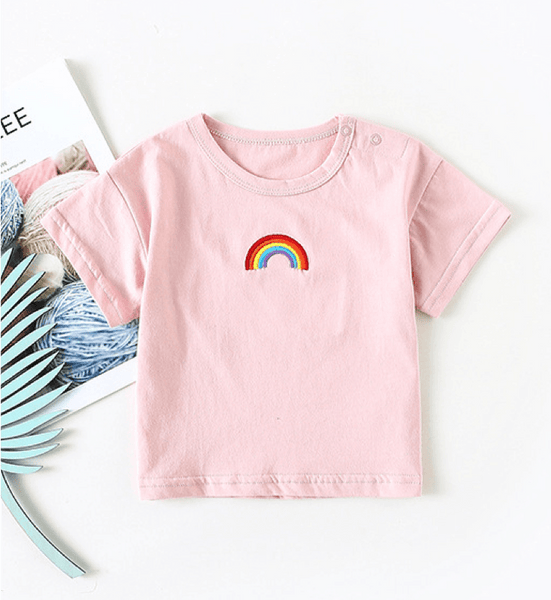 Embroidered Rainbow Tee