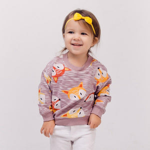 Fox Print Sweatshirt (more colors)