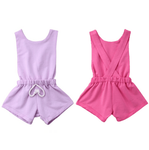 Magenta Cross Back Romper