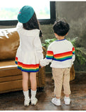 Rainbow Stripe Knit Dress