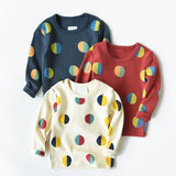 Half Circles Long Sleeve Top
