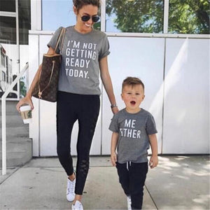 Mommy-Baby Matching 'Getting Ready' Tee