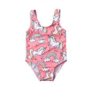Unicorn Print Swimsuit