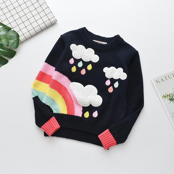 Colored Raindrops Sweater
