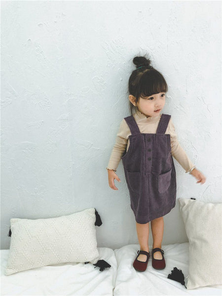 Corduroy Overalls Dress