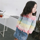 Candy Color Stripes Cardigan