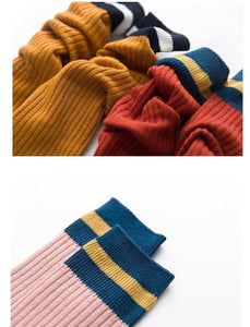 Hygge Stripe Knee Socks