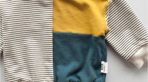 Color Block Striped Sweatshirt