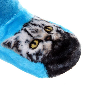 Women's Plush Cat Slippers