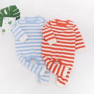 Knit Stripes Onesie