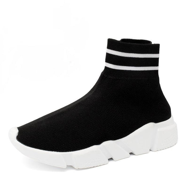 Women's Striped Sock Shoes
