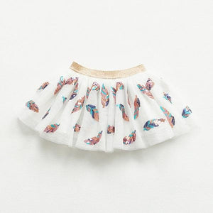 Magic Leaf Sequins Skirt