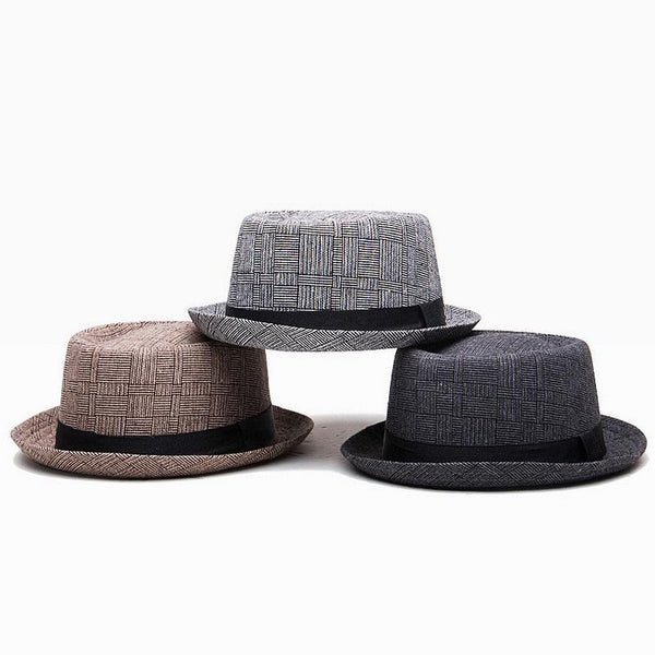 Men's Plaid Pork Pie Hat