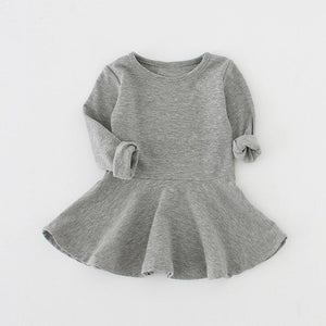 Solid Cotton Dress