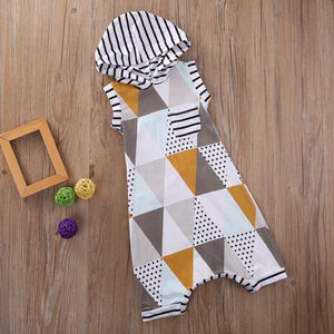 Geometric Sleeveless Romper